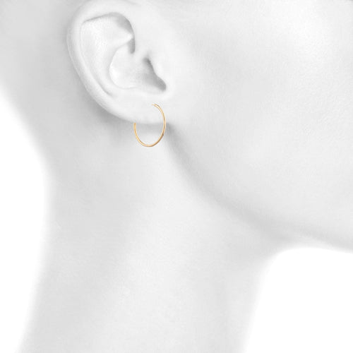 Endless Gold Hoop Earring - Taylor Adorn
