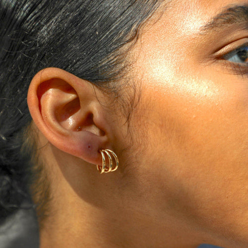 Gigi Hoop Earrings - Taylor Adorn
