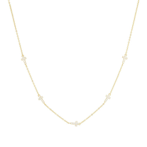 Grace Pave Chain Necklace - Taylor Adorn