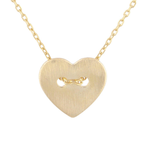 Heart Laced Pendant Necklace - Taylor Adorn