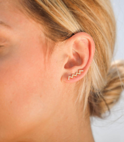 Jagger Pave Ear Climber - Taylor Adorn