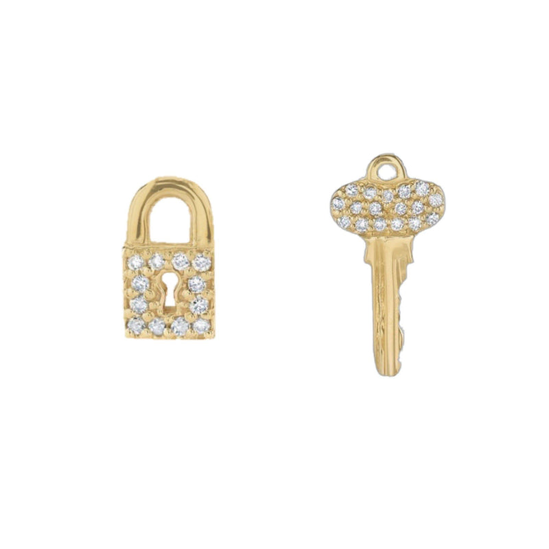 Lock N Key Stud Earring