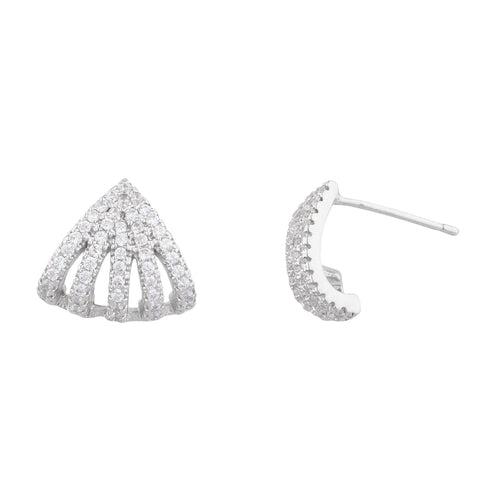 Lyra Pave Huggie Earring - Taylor Adorn