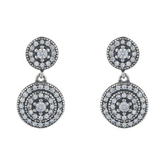 Maia Pave Drop Earring - Taylor Adorn