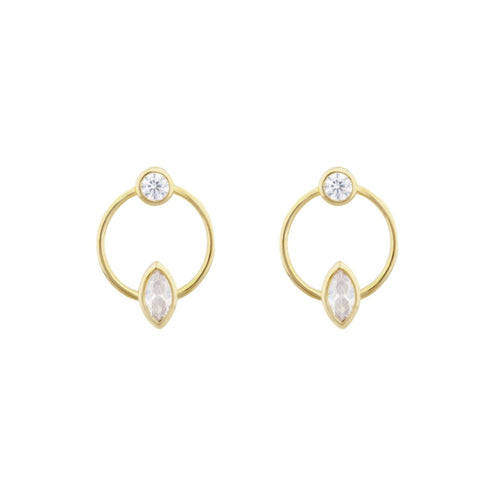 Marquis Solitaire Stud Earring - Taylor Adorn