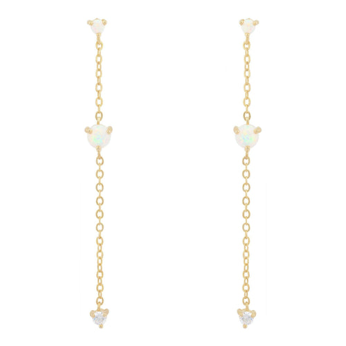 Mia Chain Drop Earring - Taylor Adorn