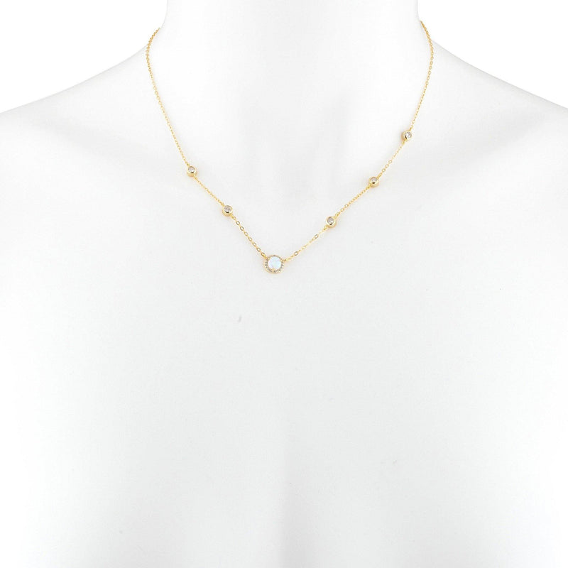 Mia Pave Chain Necklace - Taylor Adorn