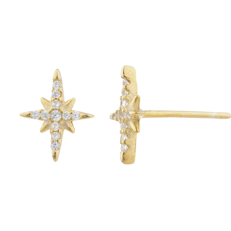 North Pave Stud Earring - Taylor Adorn
