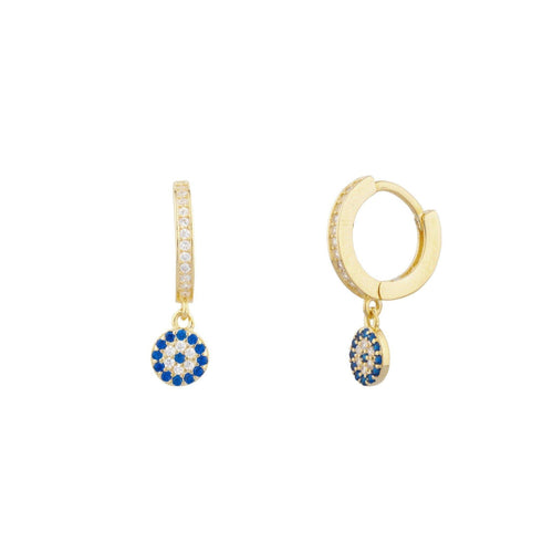Pia Pave Huggie Earring - Taylor Adorn