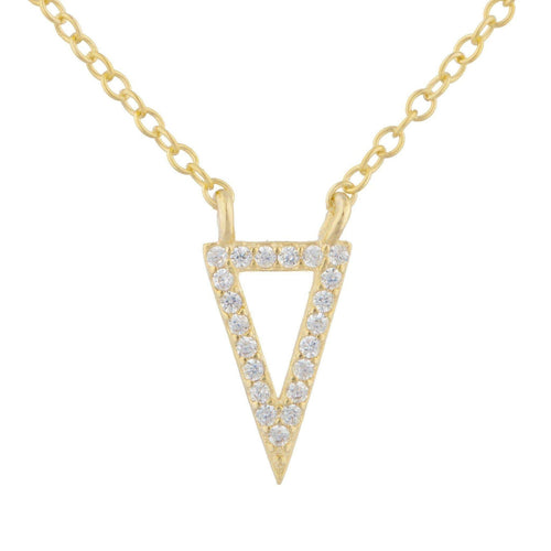 Pointe Pave Pendant Necklace - Taylor Adorn