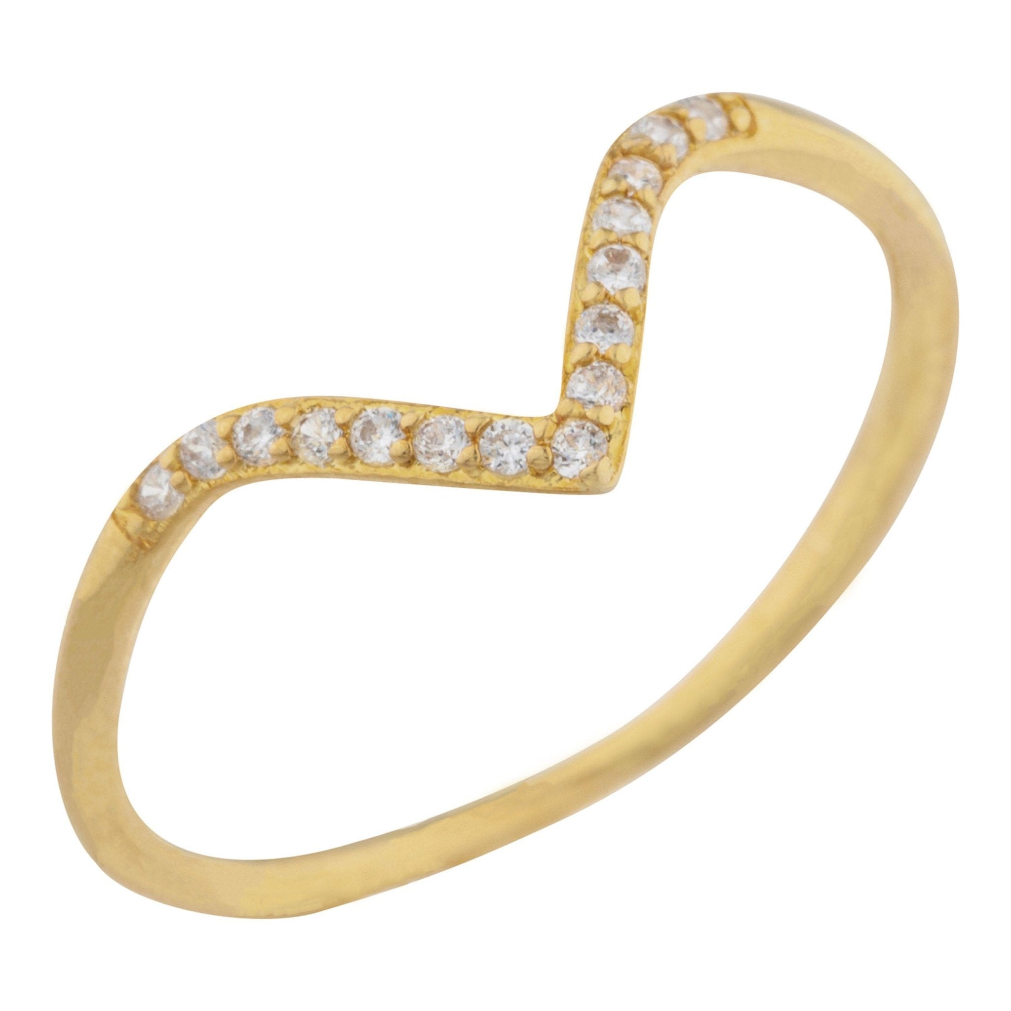 Pointe Pave Ring - Taylor Adorn