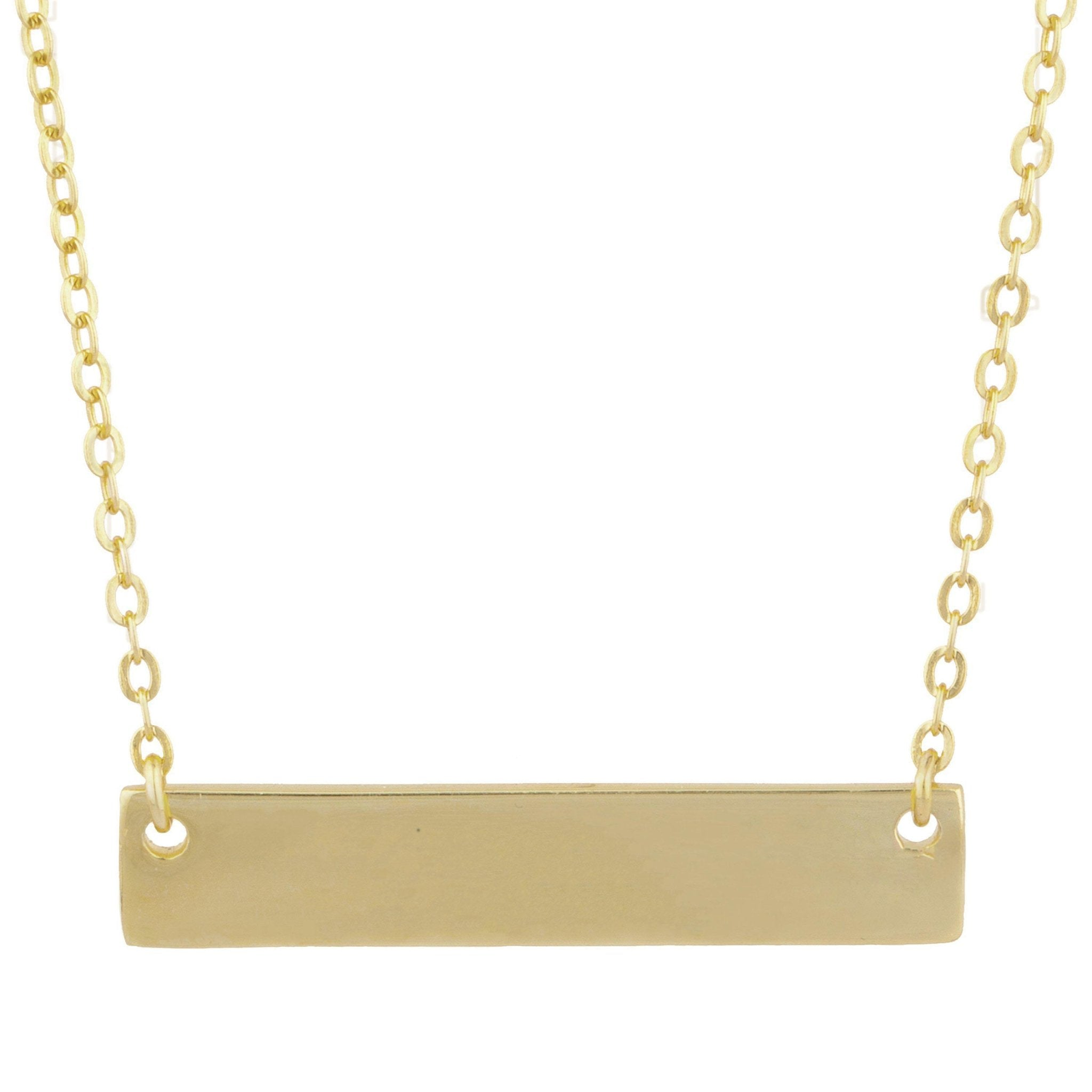 Selena Bar Pendant Necklace - Taylor Adorn