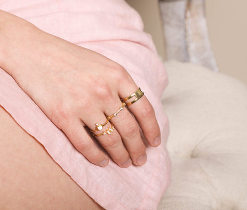 Selena Double Bar Ring - Taylor Adorn