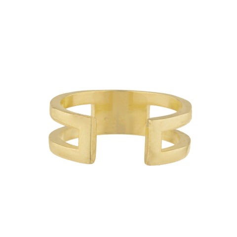 Pointe Pave Ring