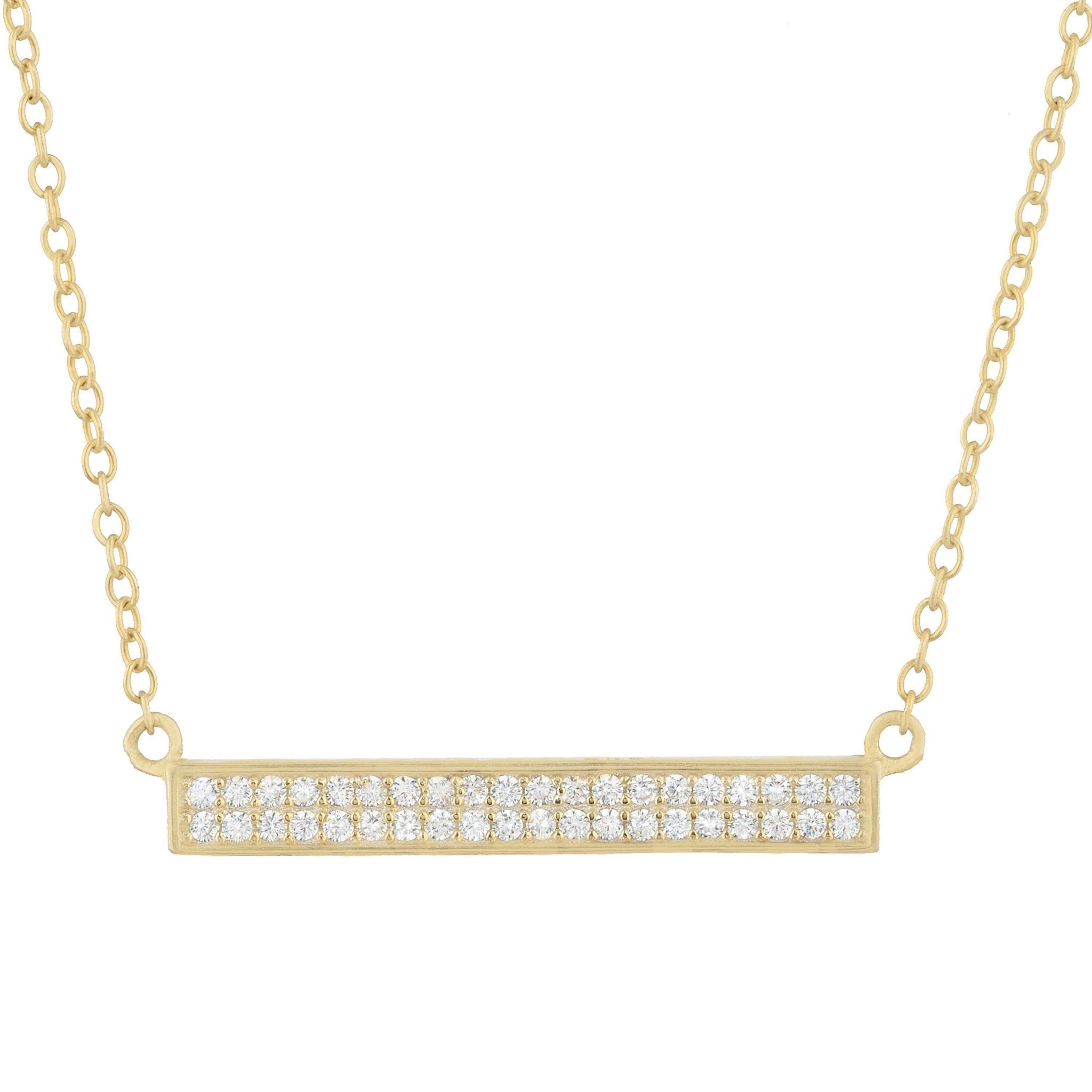 Sienna Pave Bar Necklace - Taylor Adorn