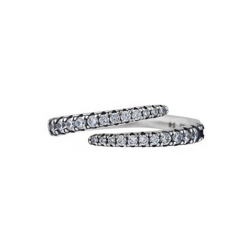 Swirl Pave Ring - Taylor Adorn
