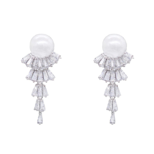 Edith Baguette Drop Earring - Taylor Adorn