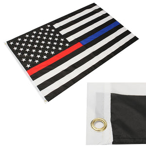3X5ft Thin Blue & Red Line Flag