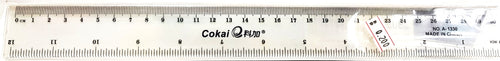 Cokai Transparent Ruler مسطرة - Optimum Copy Center