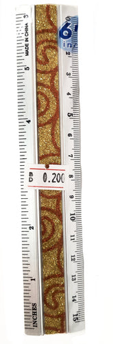 Aluminum Glitter Ruler مسطرة - Optimum Copy Center