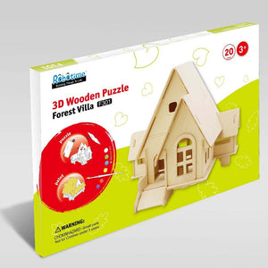 3D House Wooden Puzzle ألعاب تركيب - Optimum Copy Center