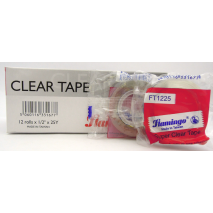 "Flamingo Clear Tape 3/4""x25Y - شريط لاصق - Optimum Copy Center"