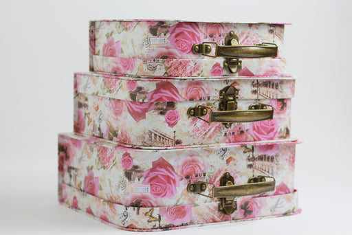 Shabby Paperboard Suitcases Storage Box - Optimum Copy Center