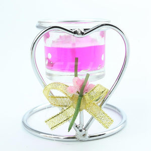 Heart Shaped Stainless Steel Candle Holder - Optimum Copy Center