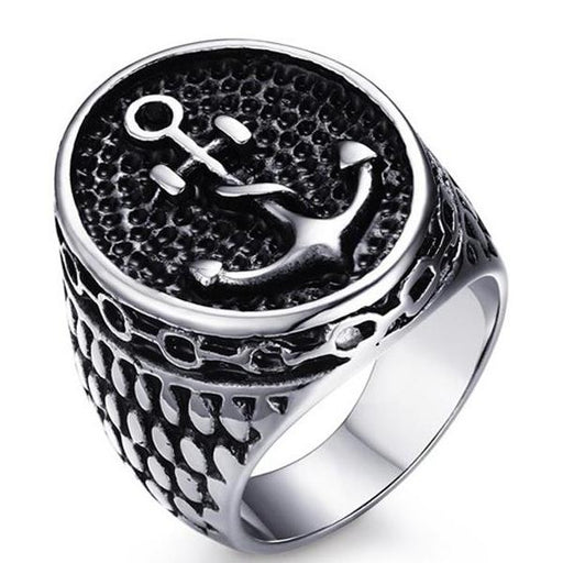 Anchor strength manifestation ring for men - خاتم رجالي - Optimum Copy Center