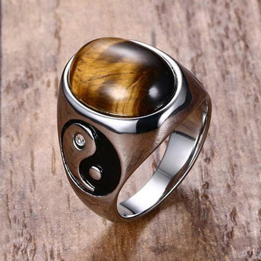 Yin and Yang Rings - Silver and Gold for Men - Optimum Copy Center
