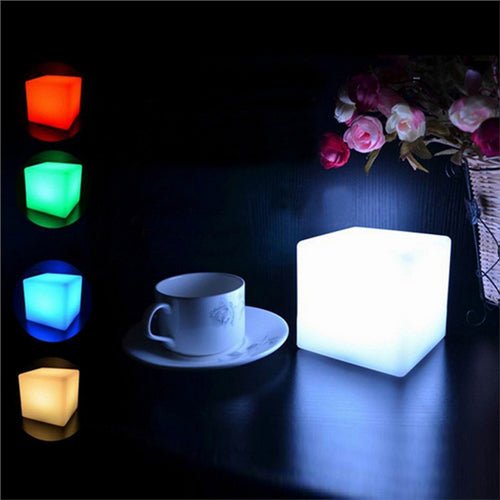 LED Cube Light Multi-Color Cordless Night Lamp - Optimum Copy Center