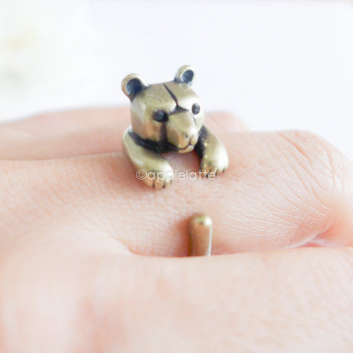 Bear Ring Animal Cute  Cool Ring -  Silver Bear  Jewelry Rings خاتم - Optimum Copy Center