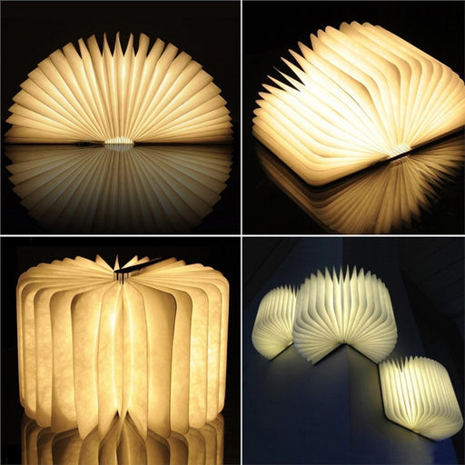 USB Rechargeable Wooden Folding LED Night Book Light Magnetic Table Desk Lamp - Optimum Copy Center