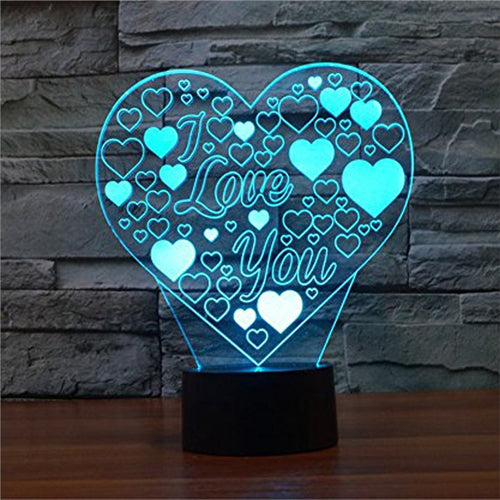 3D Lamp Visual Light Touch Switch Colorful Night Light with Remote Controller - مصابيح إضاءة ثلاثية الأبعاد - Optimum Copy Center
