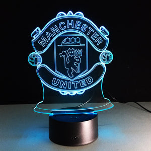 Manchester United 3D LED Football Club Lamp - Optimum Copy Center