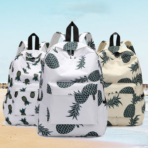 Fresh Style Pineapple Female Travel Backpack