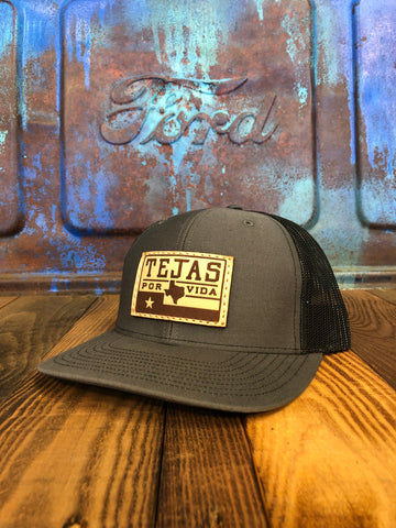 "The ""1989 Tejas Flag"" Leather Patch Lid"