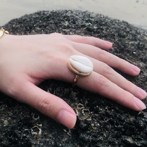 Bohemian Antique Silver Shell Ring Midi Finger Knuckle Rings for Women Summer Beach Jewelry Anillos Accessories