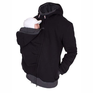 Winter Dad&Mom Baby Carrier Hoodies O-Neck Maternity Baby Hoodies Pregnant Causal Zipper Hooded Outerwear For Women/Men Clothes - Bannaga ⭐ Express™