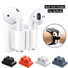 Portable Anti Lost Silicone Holder For AirPods Sports Wireless Earphone Fixed Case For Apple Air Pods Watch Band Holder