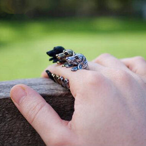 Cute Handmade Pug Dog Rings for Women Summer Jewelry Anillos Mujer Antique Brzone/Silver Plated Black 3colors for choose
