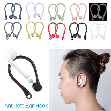 1 Pair Soft Silicone Protective Earhooks For AirPods Anti-lost Ear Hook Secure Fit Hooks Earphone Holders For Apple AirPods