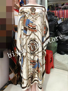 Dress Length:130cm Bust:130cm 2018 New Fashion dresses Bazin Print Dashiki Women Long Blouse Yomadou Color Pattern oversize