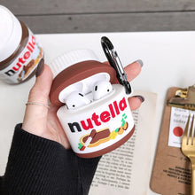 Nutella Hazelnut sauce Canned case for AirPods 1 2 pro 3 charging box Soft silicone shockproof earphone protective cover coque