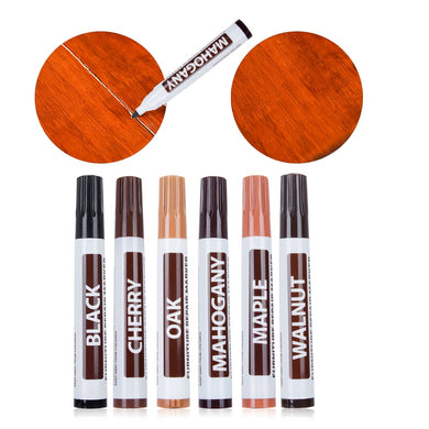 1Pc Wood Repair Pen Furniture Paint Floor Repair Floor Wax Crayon Damaged Scratch Patch Paint Pen Wood Composite Repair Material - Bannaga ⭐ Express™