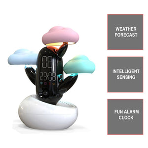 Cloud Weather Time Light Small Alarm Clock Bedside  Electronic Induction Night Light