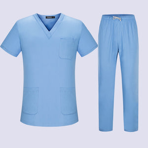 High Quality Spa Uniforms Unisex V-Neck Work clothes Pet grooming institutions Scrubs set Beauty Salon clothes Scrubs Tops Pants