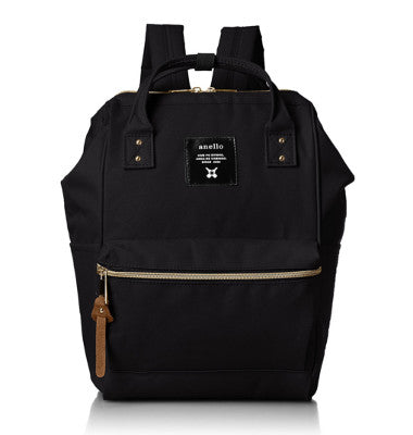 ANELLO Polyester canvas  mini  backpack with metal clasp-AT B 0197B