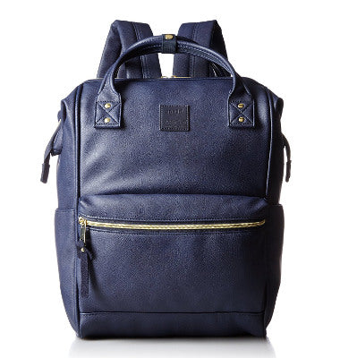 Anello Official Synthetic Leather metal clasp backpack AT B1211 -Navy