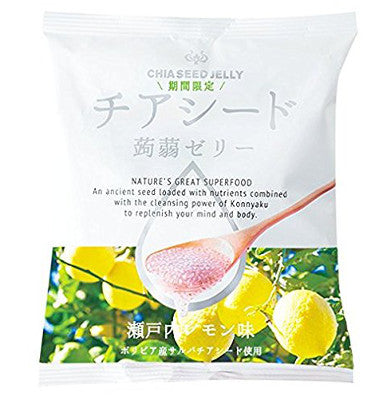 Chia seeds Konyaku jelly - Setouchi lemon
